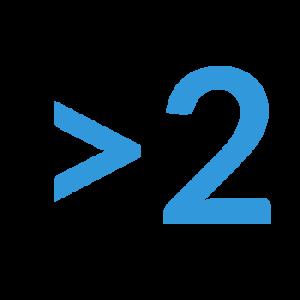 numero 2 azul
